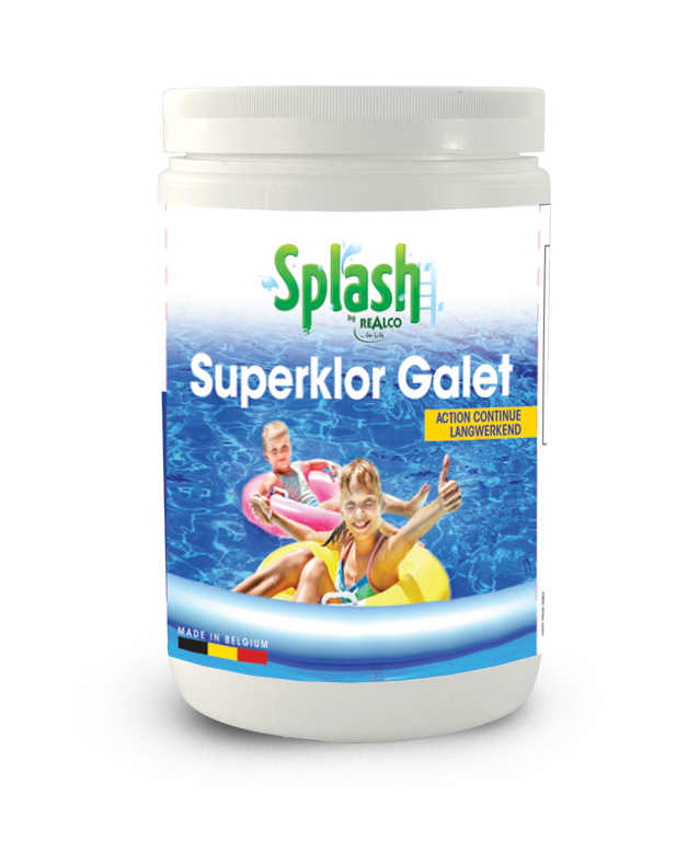 SUPERKLOR GALET  CHLOOR IN TABLETTEN 200G 1KG