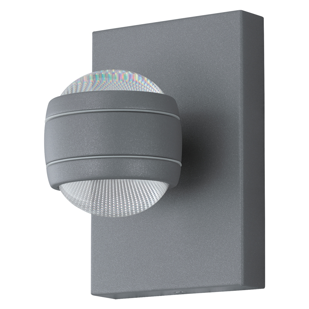 BUITEN-LED-WANDLAMP 2X3,7W GRIJS 'SESEMBA'