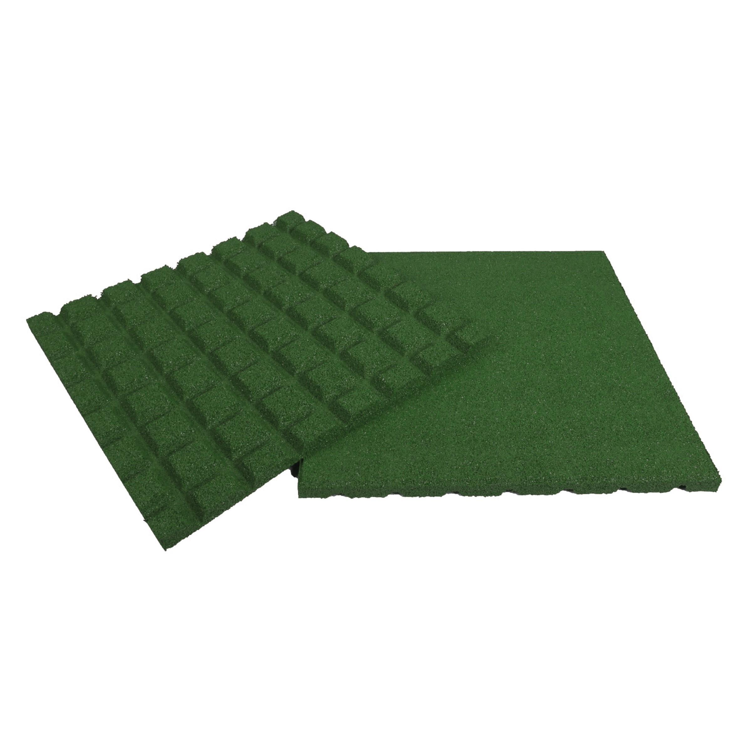 Rubber Tegel 50x50x2.5Cm Groen