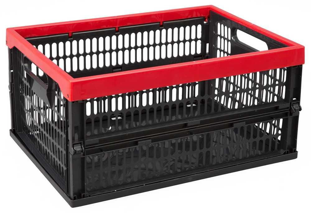 PLOOIBOX 34 L 470 x340 x240 zwart/rood