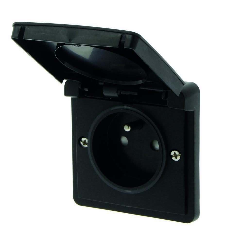 New Hydro Stopcontact +a +v zwart