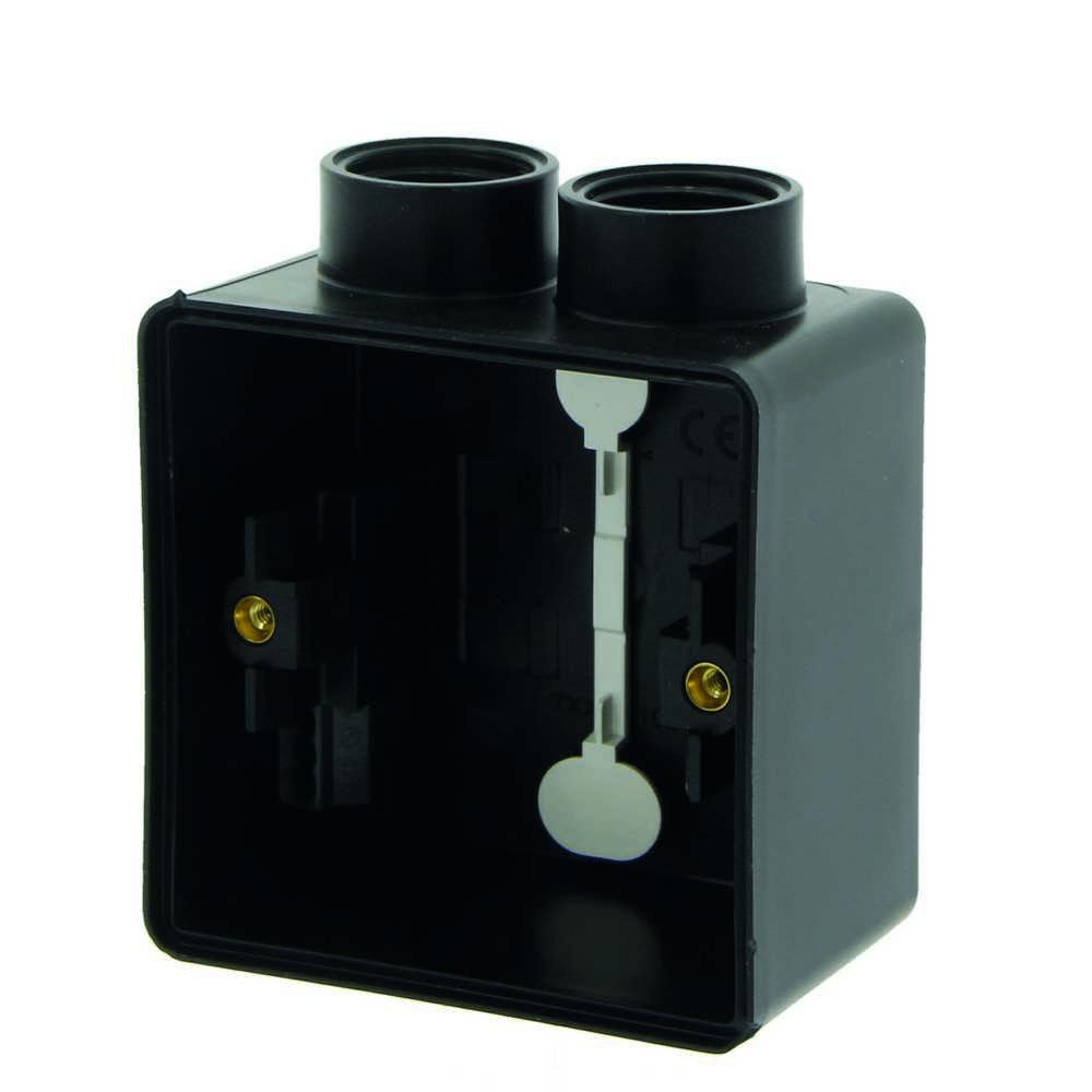 New Hydro Doos 1v 2 Ingang zwart