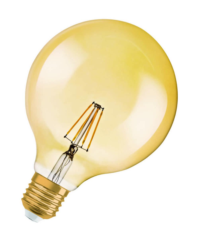1906 LED GLOBE GOUD E27 4W WW