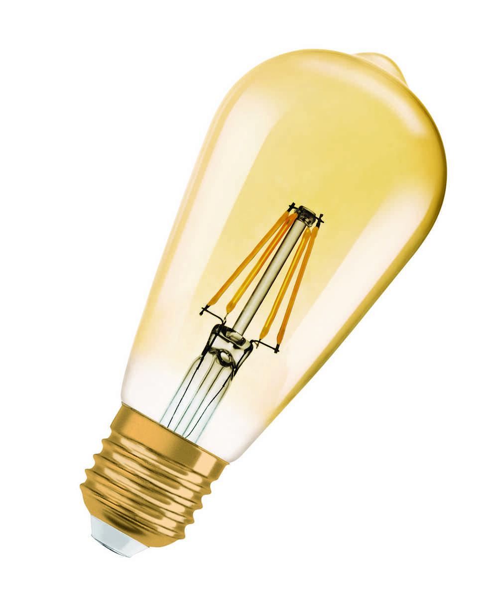 1906 LED EDISON GOUD E27 4W WW FIL