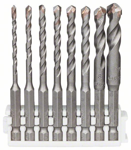 Tegelboor HEX-9 Ceramic, 3; 4; 5; 5; 6; 6; 8; 10 mm