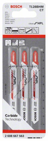 Decoupeerzaagblad T128 BHM Clean for HPL 3x