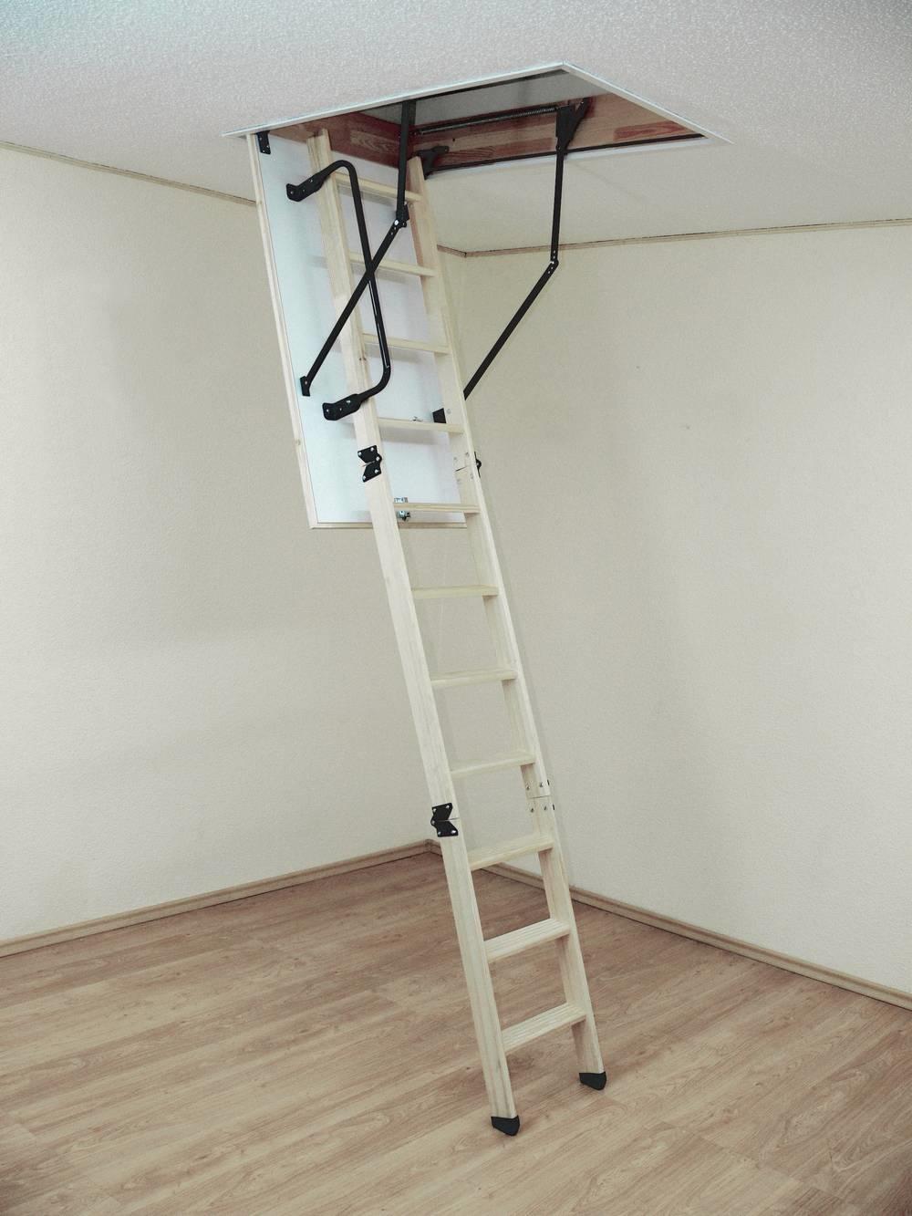 Woodytrex-Superieur 3-delige zoldertrap (inklap) 120 x 60