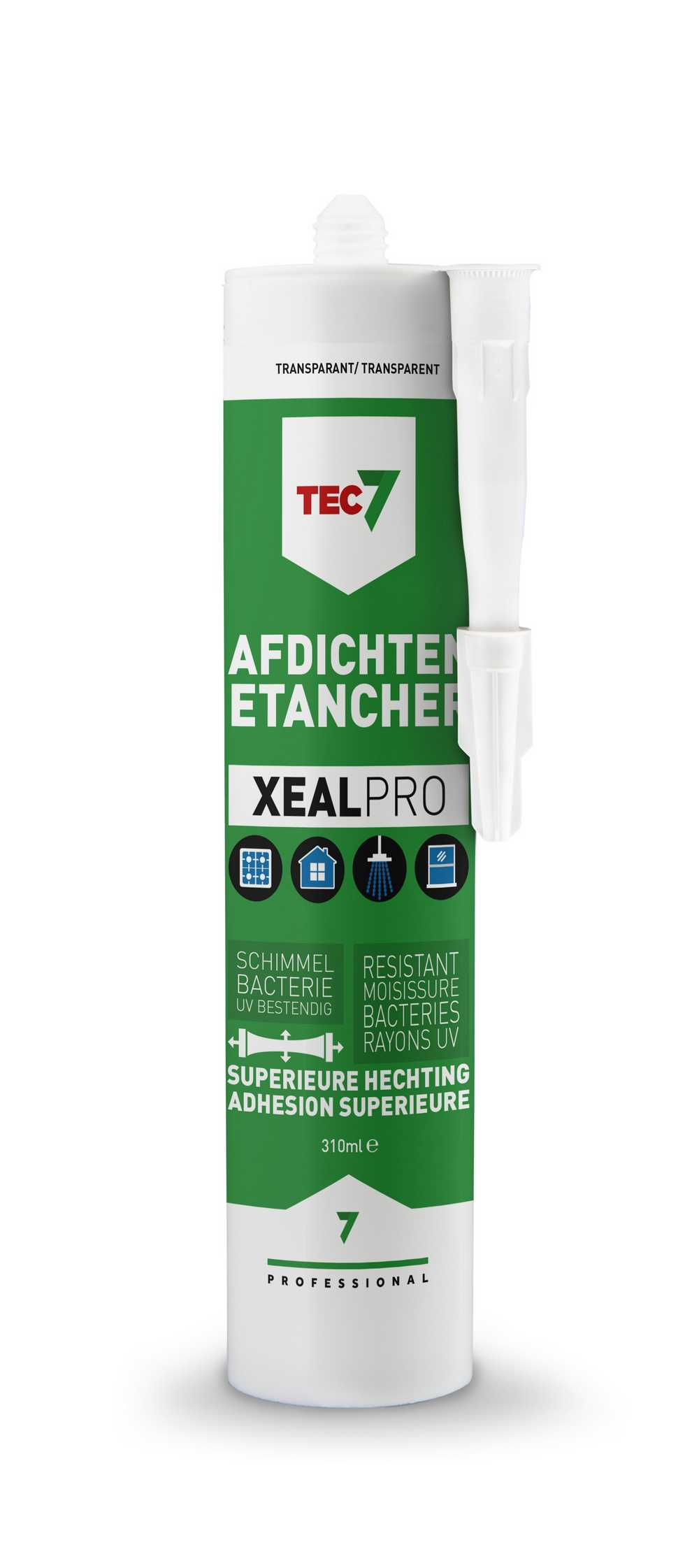 XealPro All-In-One afdichtings- en afwerkingskit transparant