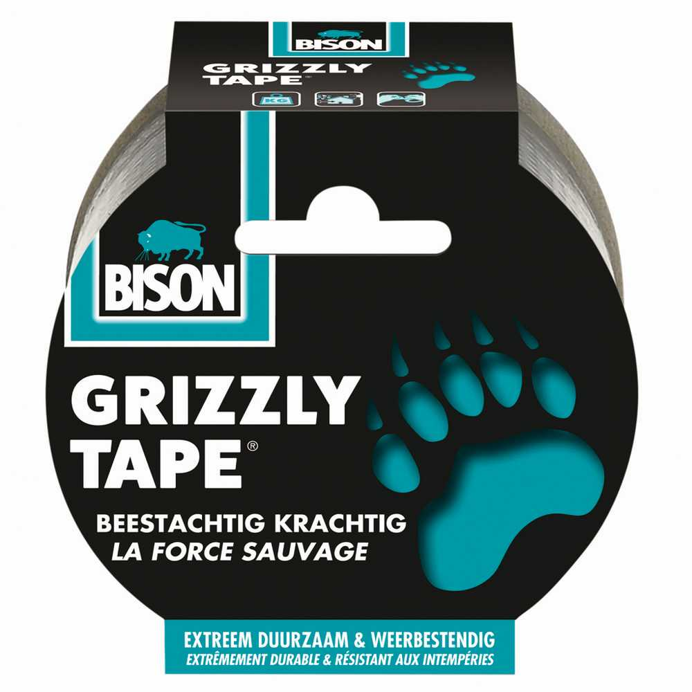 Bison Grizzly Tape® zilver/argent rol/rouleau 10 m
