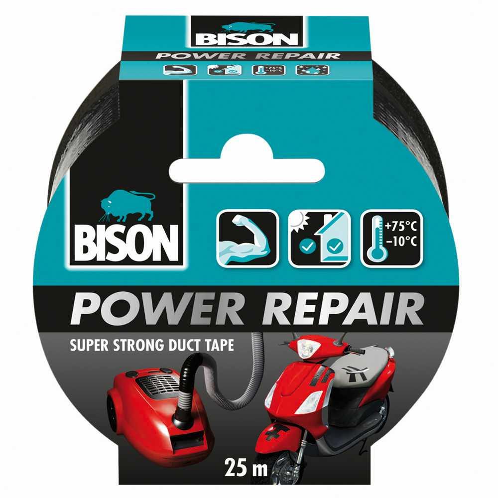 Bison Power Repair Tape zwart rol 25 m