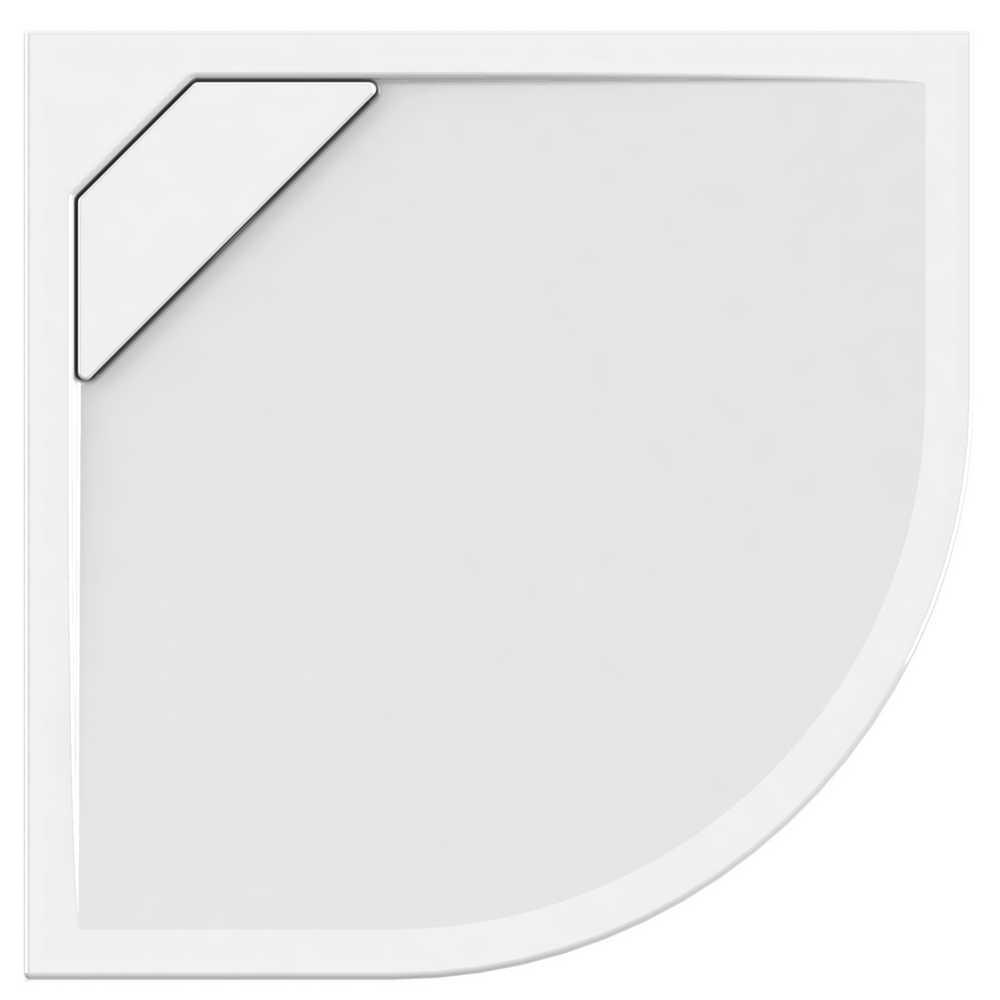 PURETEX Kwartrond - 90 x 90 x 4,5 cm - Wit
