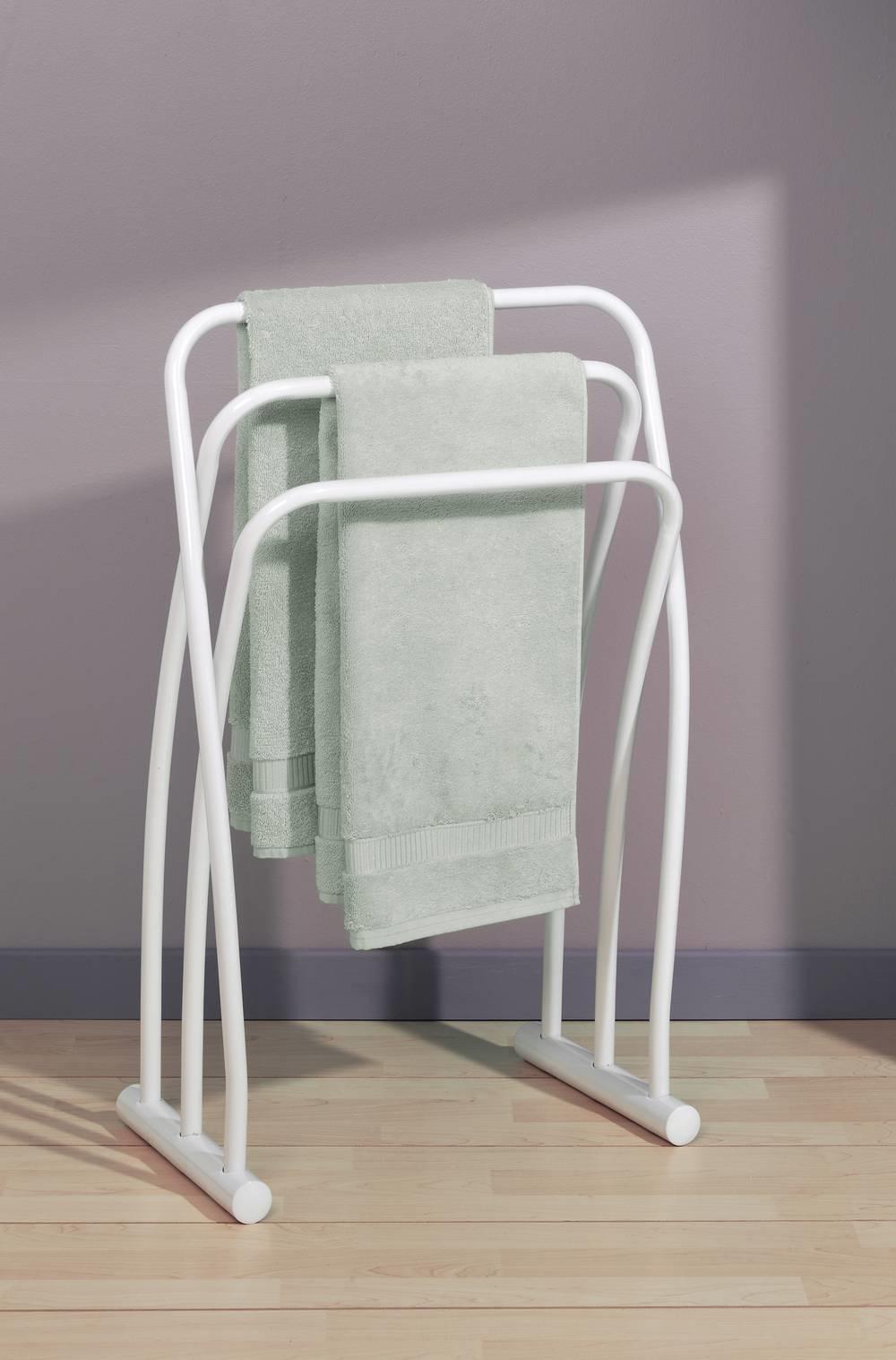 HENDAYE Handdoekhouder 3 stangen Wit - staand