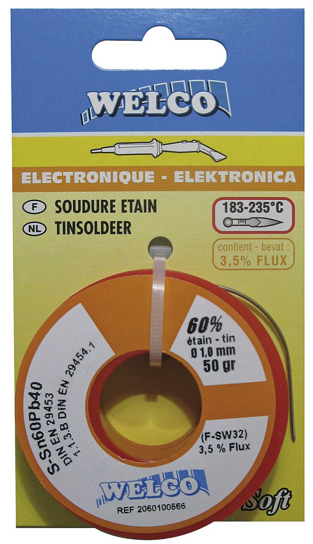 ZACHTSOLDEER ELECTRONICA 60%TIN 1MM 50gr  FLUX