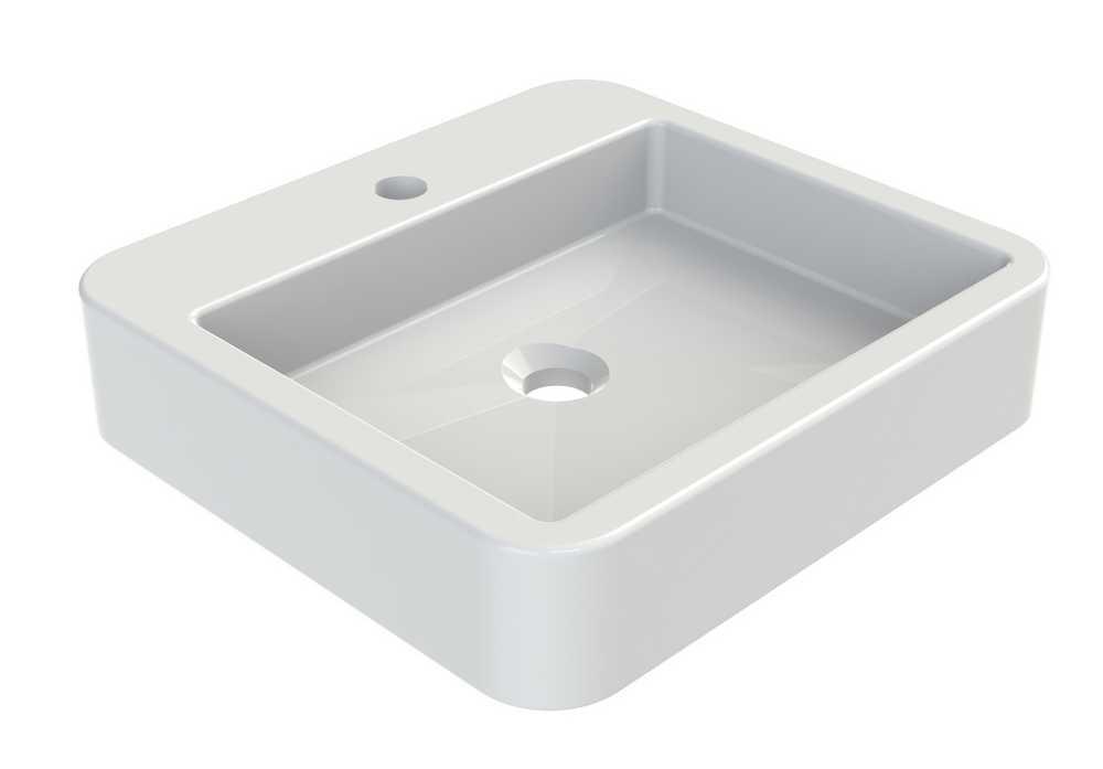 DUMAH Opbouwwaskom 45 cm vierkant - Glanzend wit