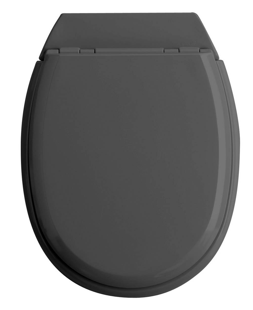 ATLAS - WC-zitting - Glanzend Antraciet Grijs