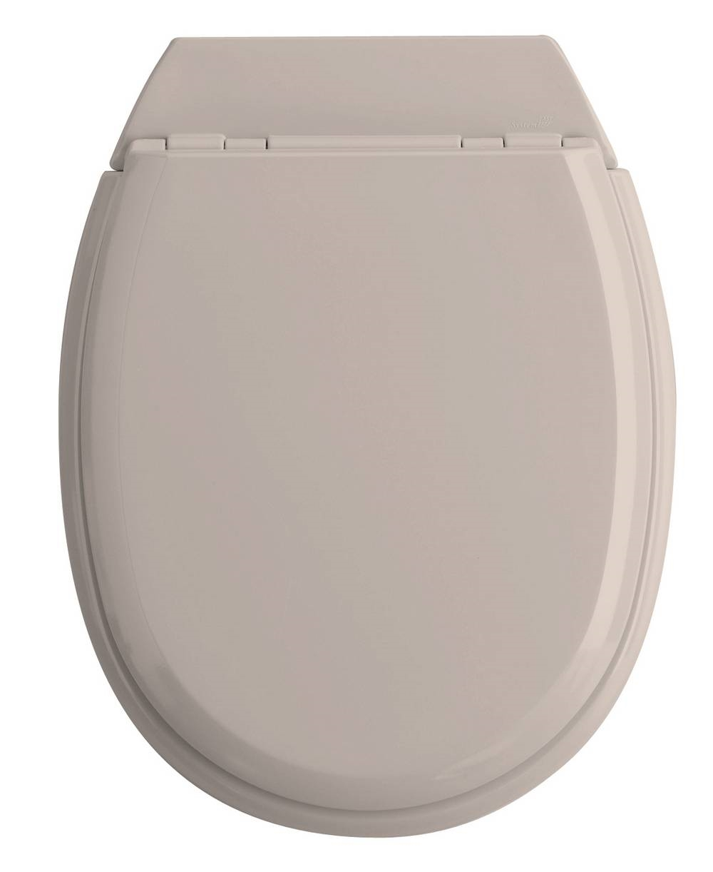 ATLAS - WC-zitting - Glanzend Licht Taupe