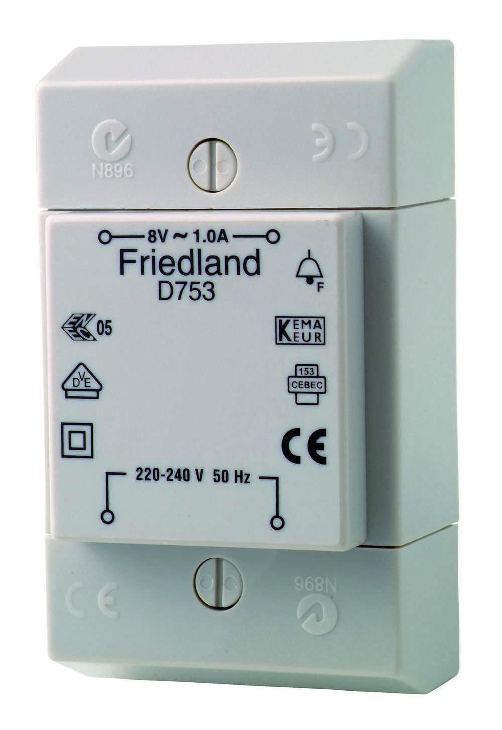 FRIEDL D753 TRANSFORMER 8V-8VA (1 stuk)