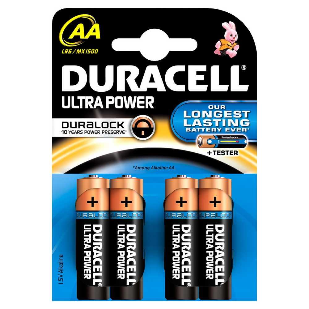 Batterij Alk Ultrapower Aa 1.5v 4x