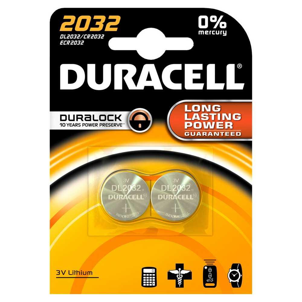 Batterij cel dl2032 lithium 3v 2x