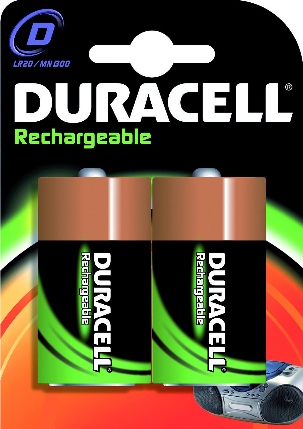Batterij Ni-mh D 1.5v 2200mah 2x