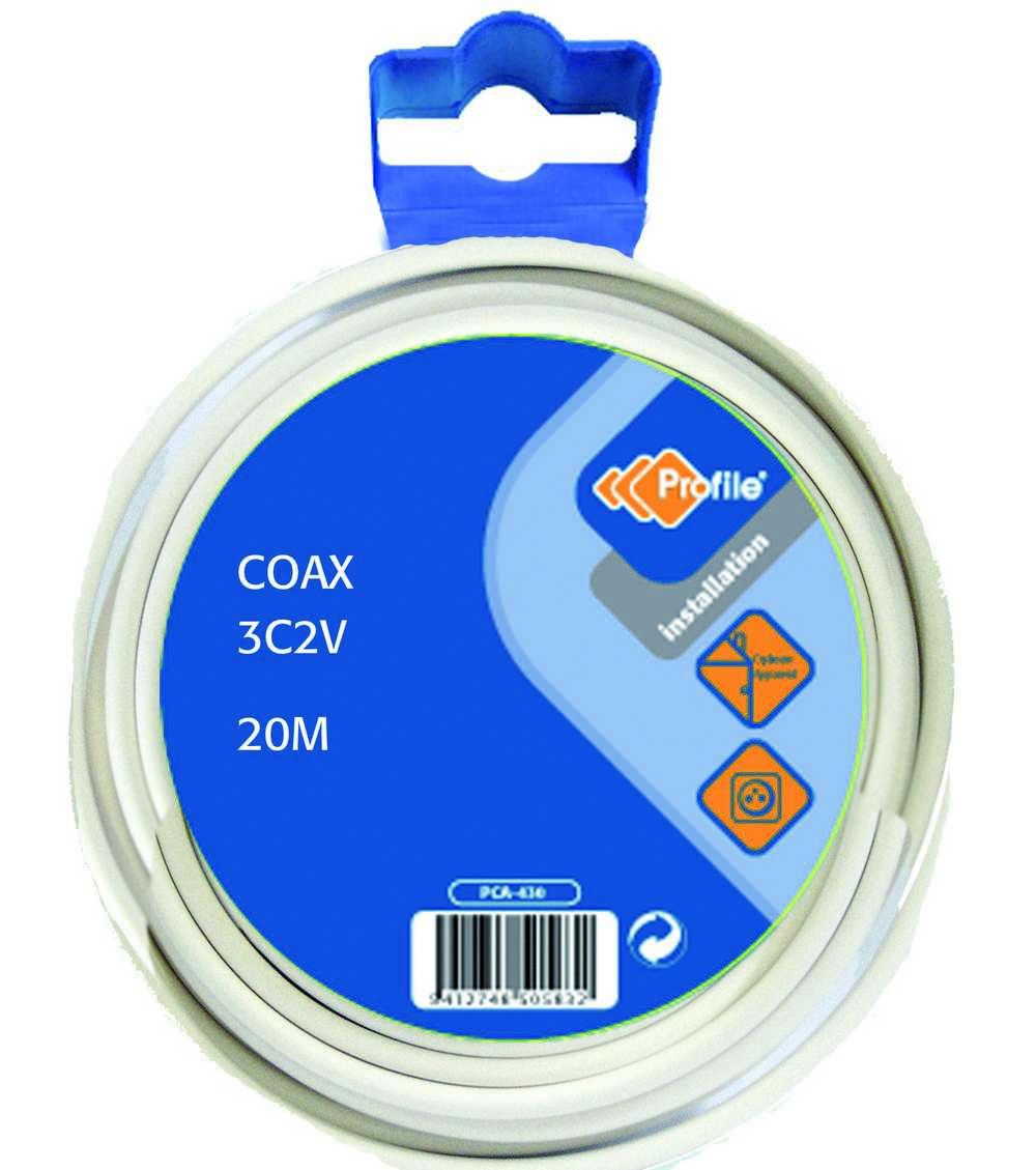 Coax 20m 3c2v Blister