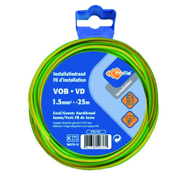 Vob 1.5 Geel/groen 25m Blister