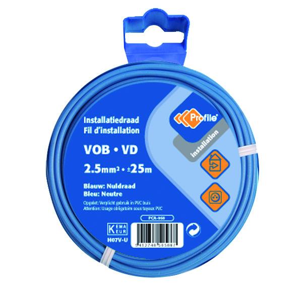 Vob 2.5 Blauw 25m Blister