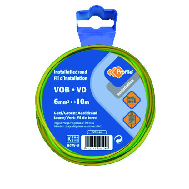 Vob 6mm Geel/groen 10m Blister