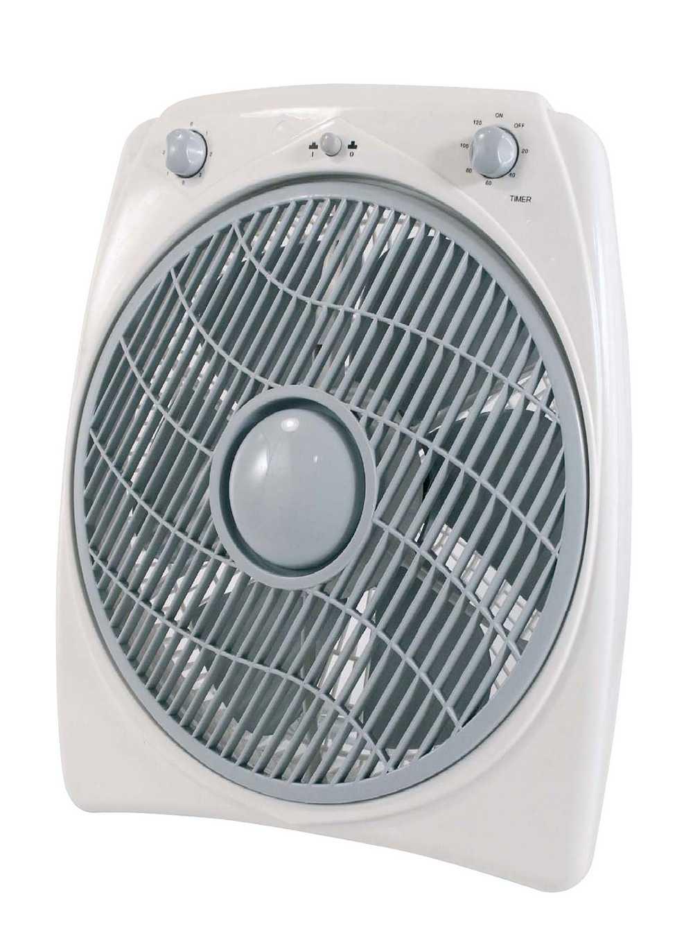 Ventilator Box 30cm 3snel+tim120m W