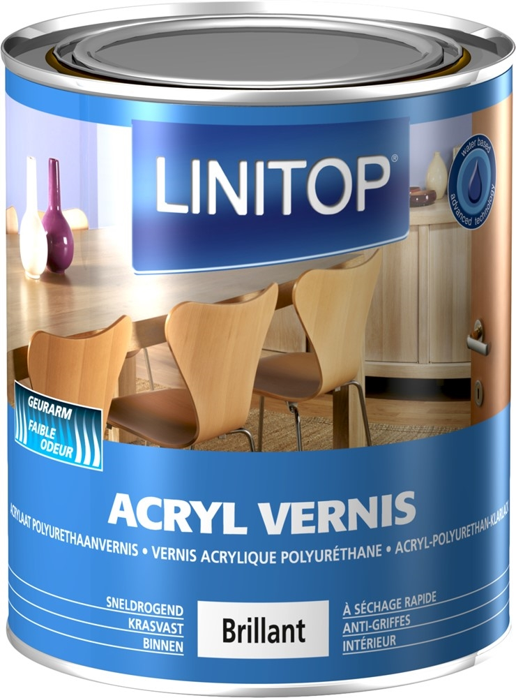 ACRYL VERNIS  0,75L B Hoogglans
