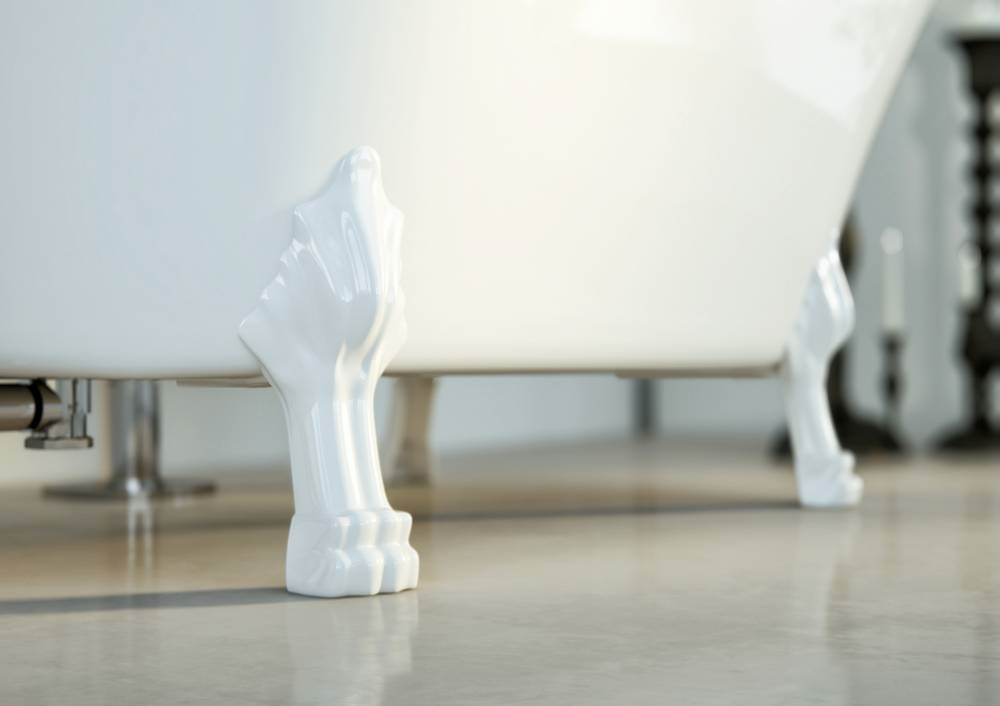 FELINA Vrijstaand bad Leeuwenpoten wit - glanzend - 170x80