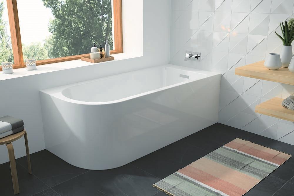 SERENA Vrijstaand bad Hoek rechts - glanzend - 170x75