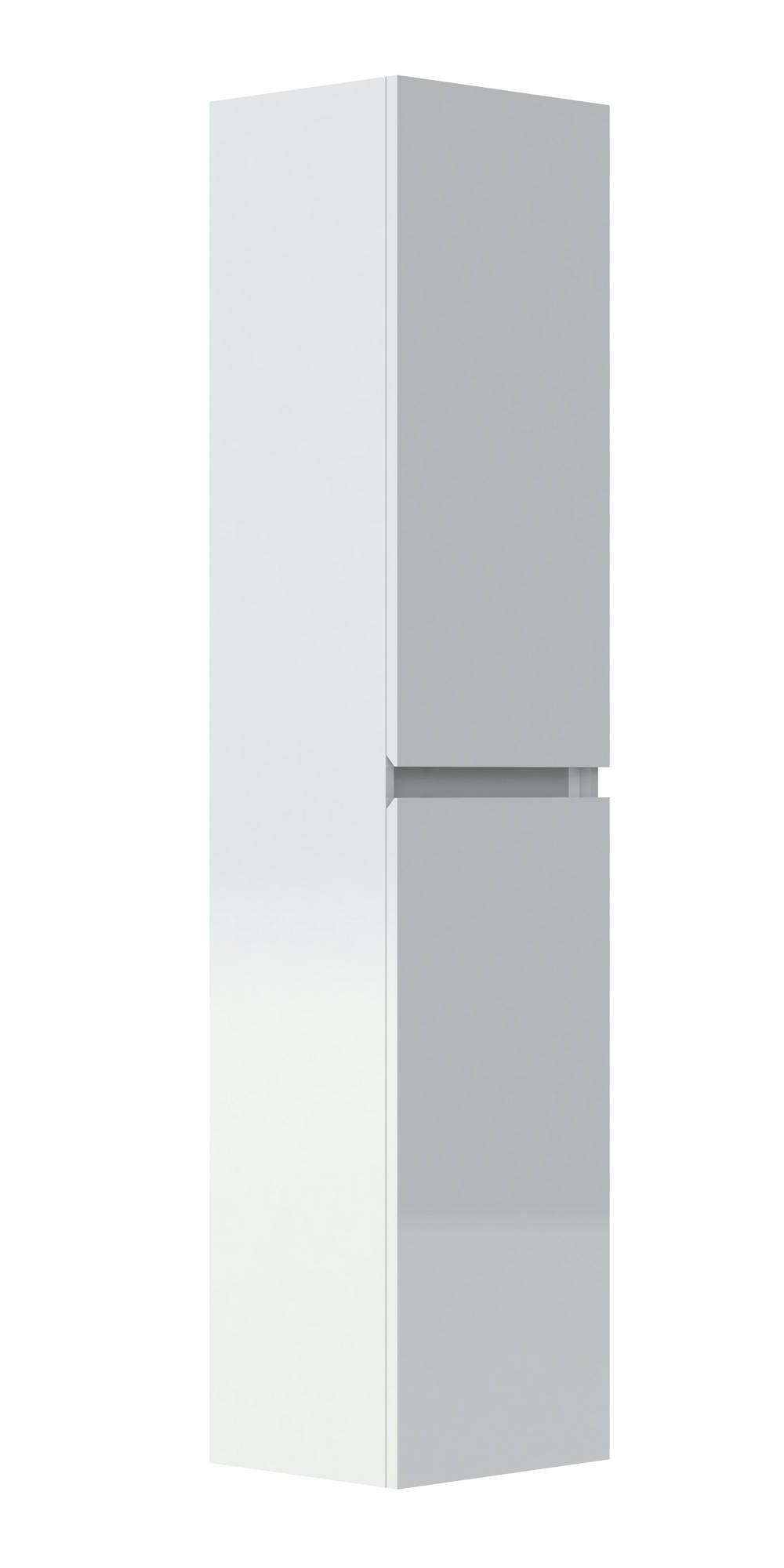 LIVO Kolomkast 40 cm - Glanzend gelakt Wit