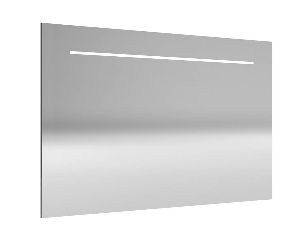 DELI Spiegel met verlichting 140 cm Aluminium