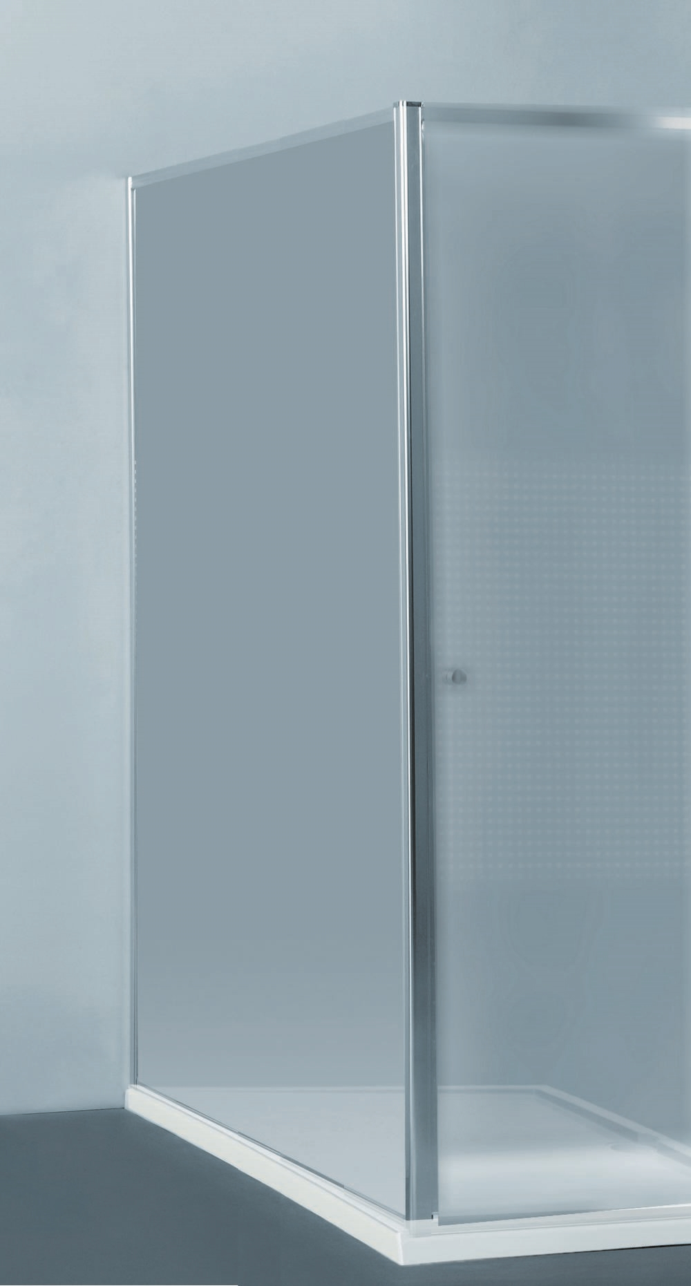 PRIVA vaste wand   118-120 x 190 cm Gl Chroom TN