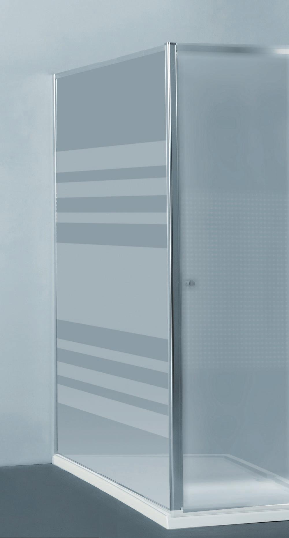 PRIVA vaste wand   118-120 x 190 cm Gl Chroom SH