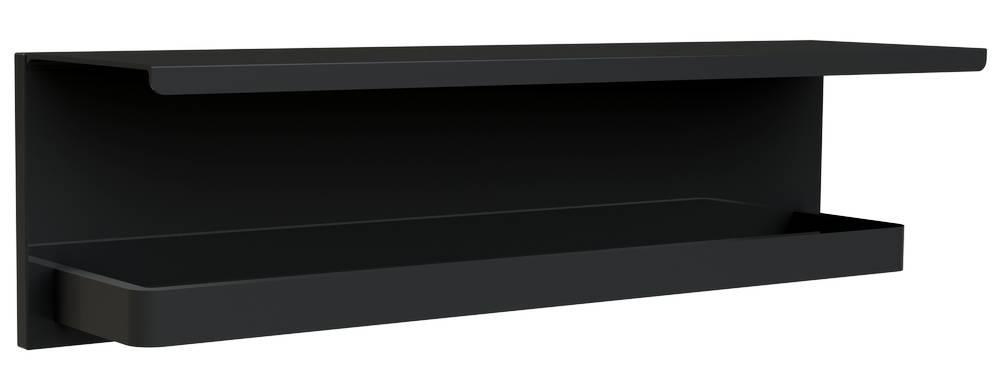 LOFT-GAME Tablet + Handdoekhouder Mat Zwart - hangend