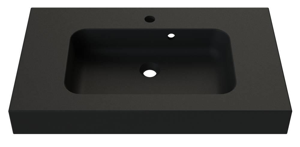 ROKE Wastafel 80 cm Zwart