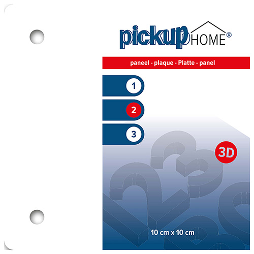 3D Home paneel wit 100x100 mm