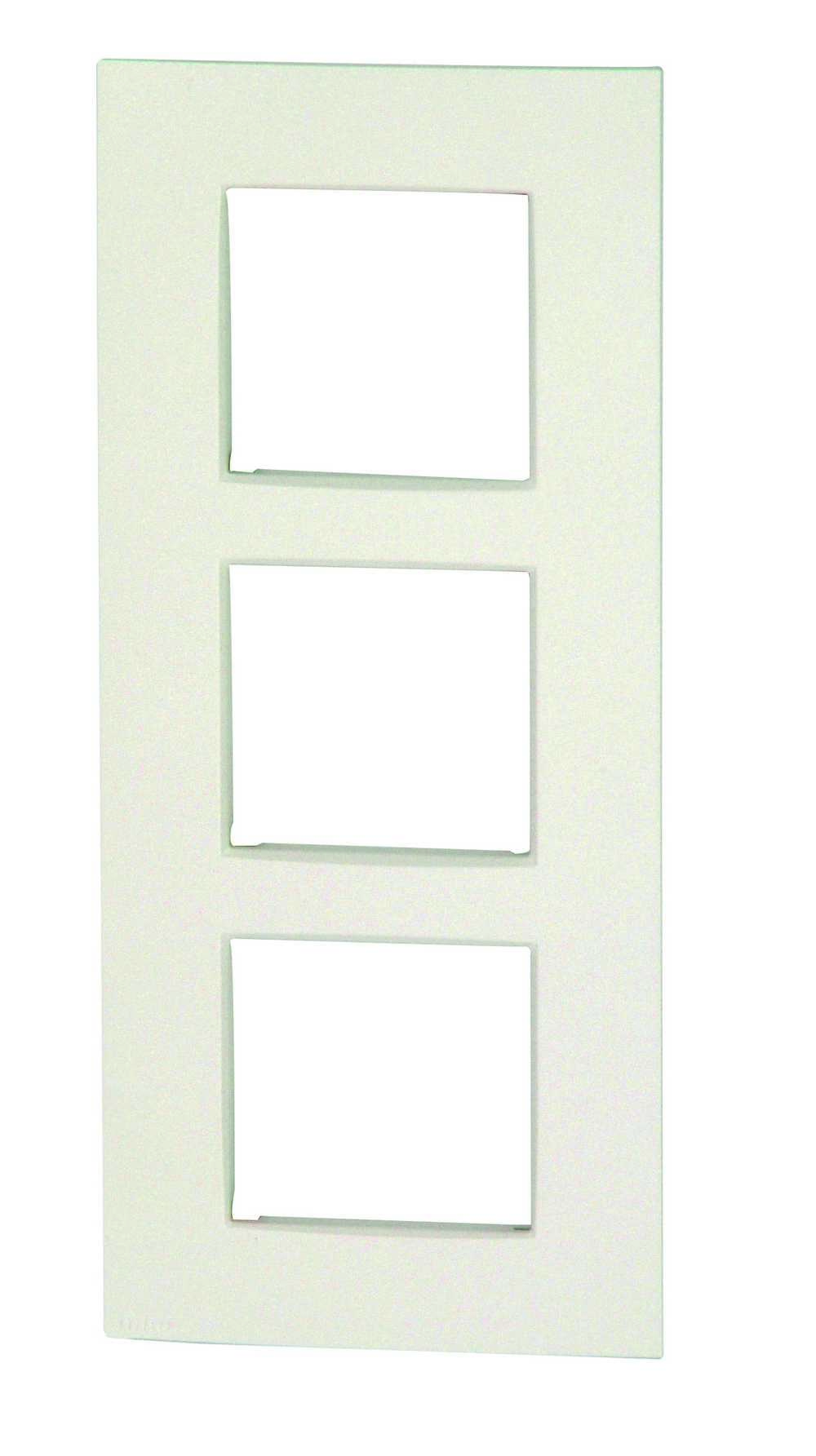 Afdekplaat 3v Vert Intense White