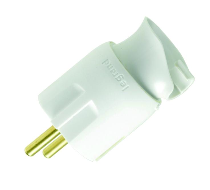 Stekker Orient Kabel 2p+a Wit
