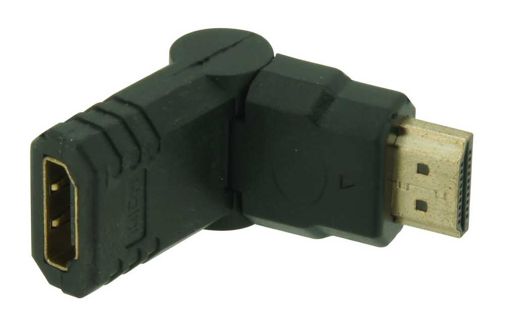 Adapter Hdmi M>v Haaks 2x90° Rot