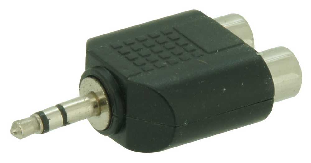 Adapter Mini Jack>2rca Vrouw