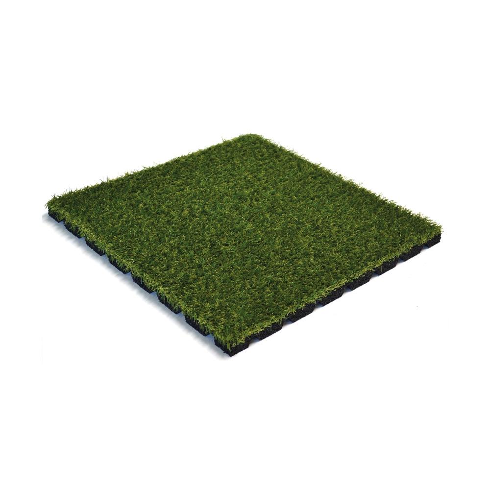 Rubber Tegel met Kunstgras 50x50x2.5Cm