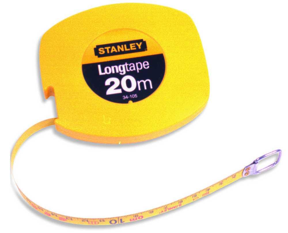 Landmeter Staal 20m - 9,5mm gesloten kast