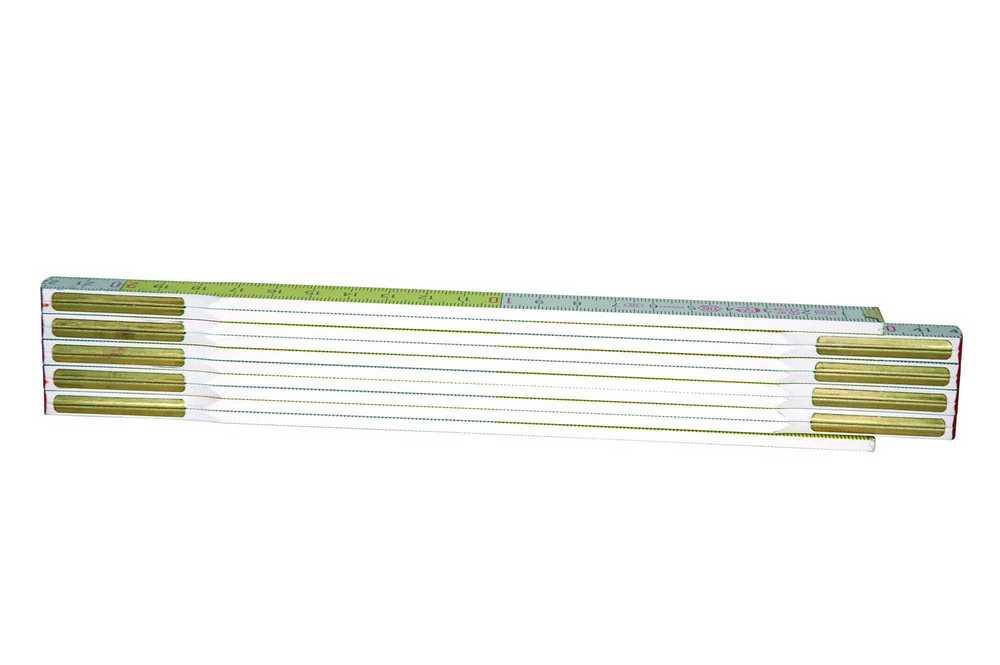 Duimstok 2m - 15mm Geel/Wit