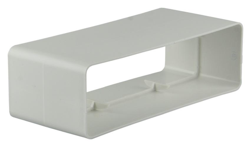 PVC VERBINDINGSSTUK 7008      WIT 110X55MM
