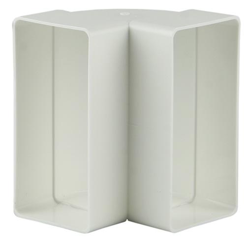 PVC HOEKVERBINDING VERT.90°   7015 WIT 110X55MM