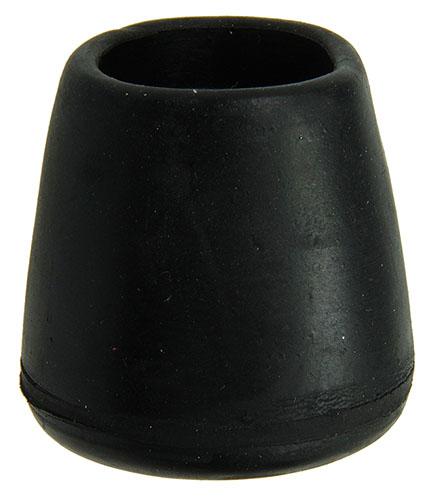 4St Buisdop Opzetmodel Rubber Zwart 25Mm