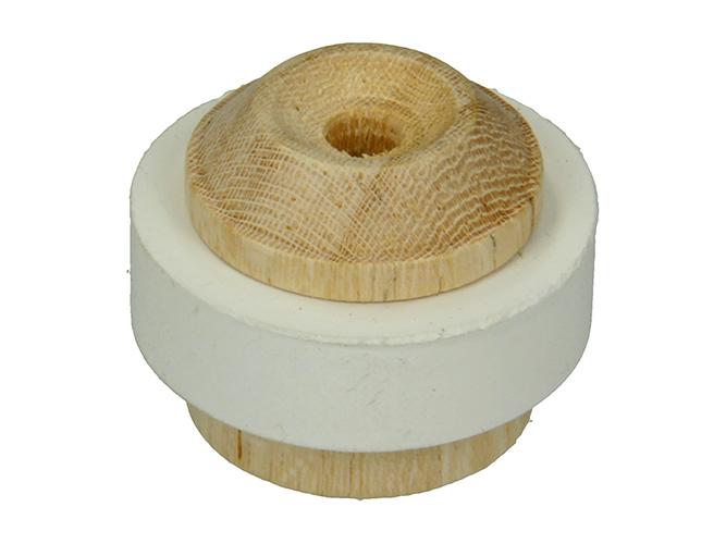 Deurstop Hout + Rubber 35 MM